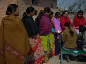 Women completing registration