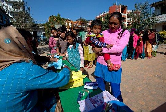 Recent screening camp, Boudha Kathmandu Dec 2 2010