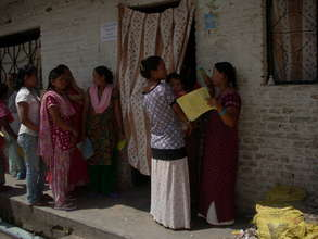 Women waiting for cervical cancer screening