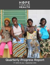 Hope Through Health - Q1 2016 Progress Report (PDF)