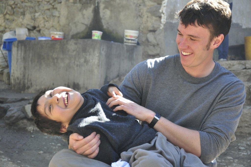 Brad, Awamaki Volunteer with Alex