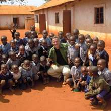 Rick with Matulani school children