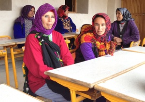 Amezray women gather for their first health day.