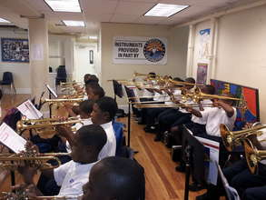 Pierre A. Capdau Charter School Band Practice
