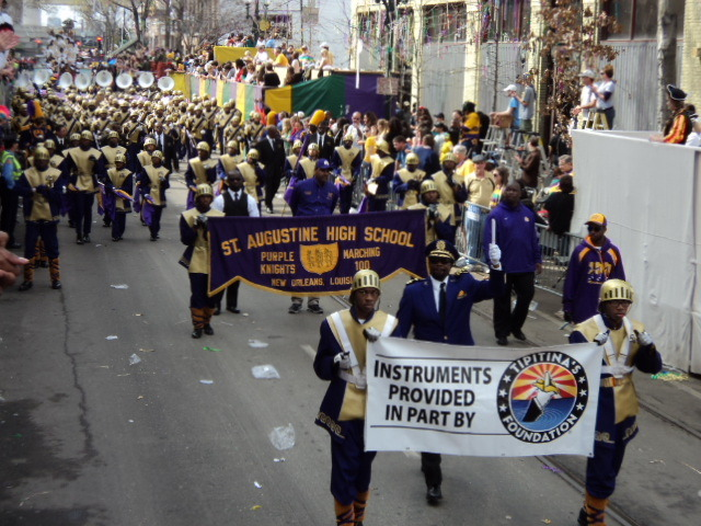 Marching in parades with instruments