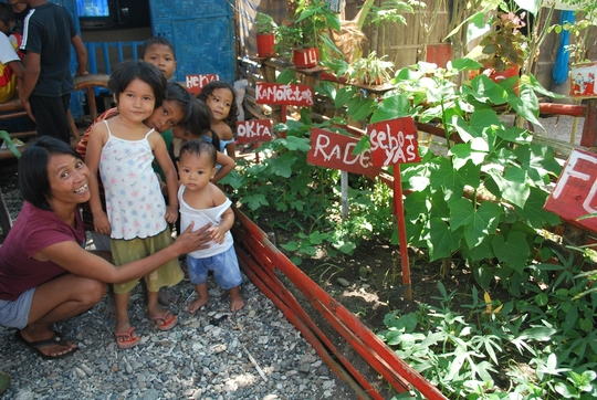 Beneficiary and her garden