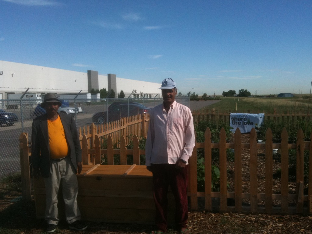 Iccha and Dilli with the tool box they built