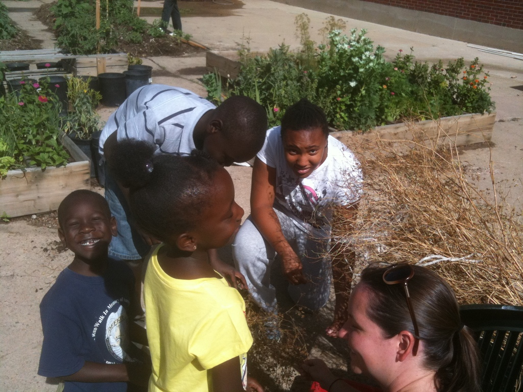 The Parking Lot kids saving cilantro seeds