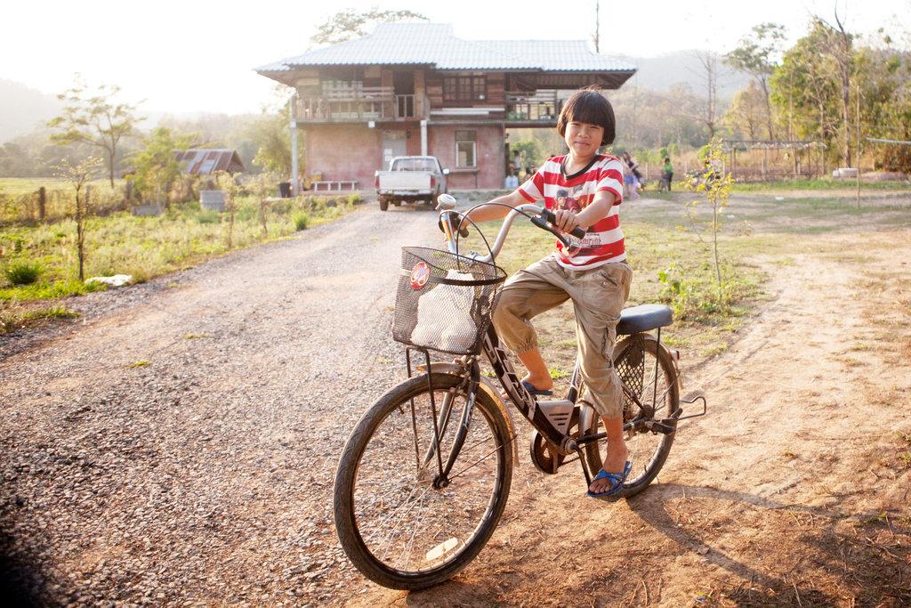 Biking to the Resource Center after school