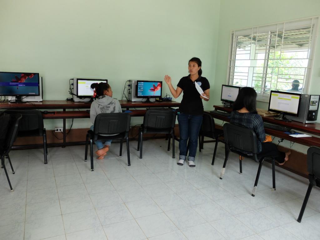 Students taking the surveys