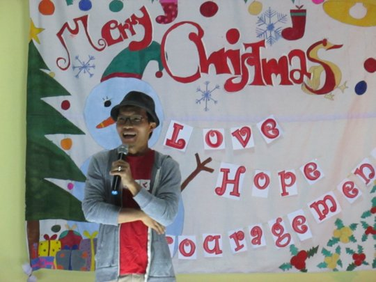 Tawee Speaking at the Christmas Party