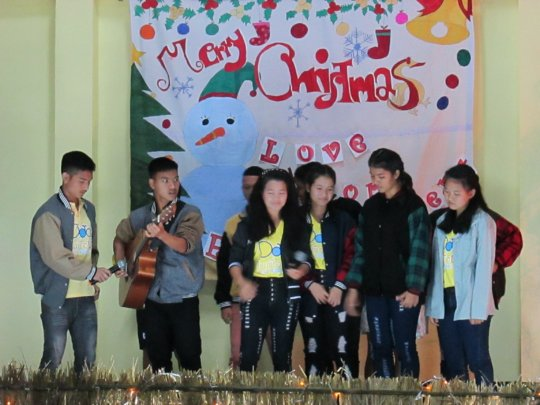 Students Performing at Our Annual Christmas Party