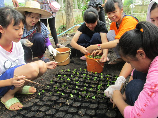 Planting Trees at the Resource Center