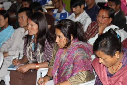 Family representatives learning about Tourism