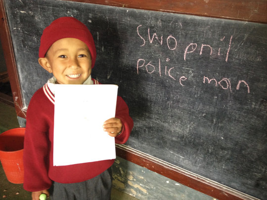 """I want to be a policeman."""