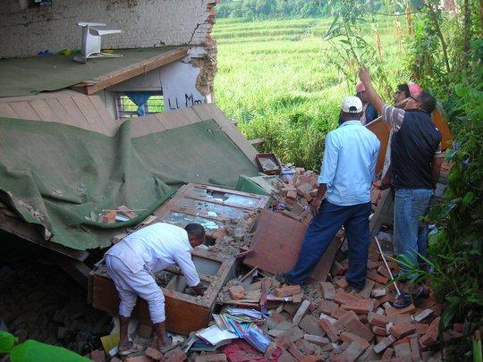 Inspecting preschool building damage