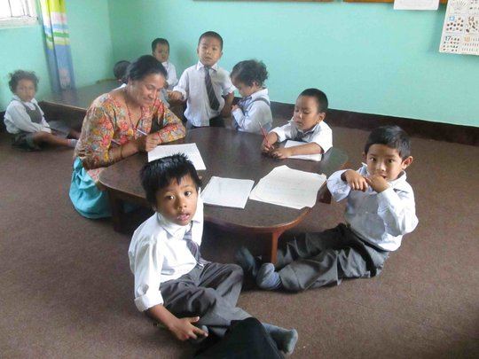 'Mother' Tirthamaya is also a preschool student!