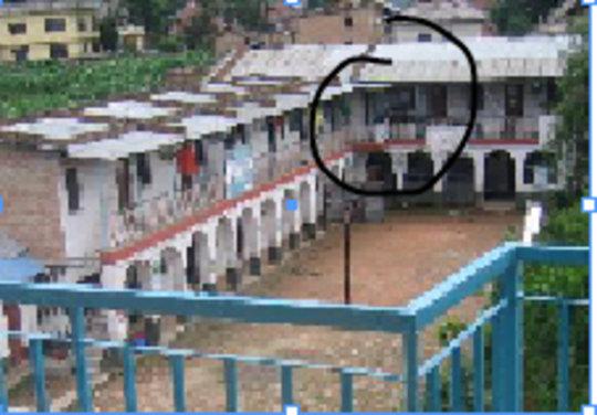 Damaged school area
