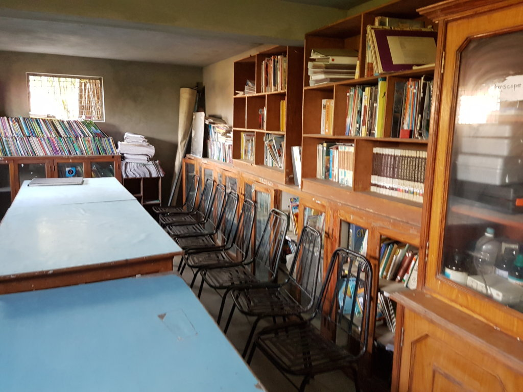 Library at the Bungamati Family House