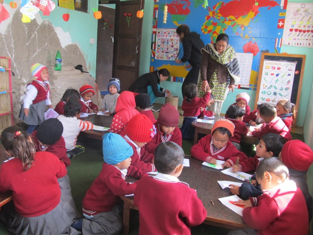 Photo 1: Early childood program at Bungamati House