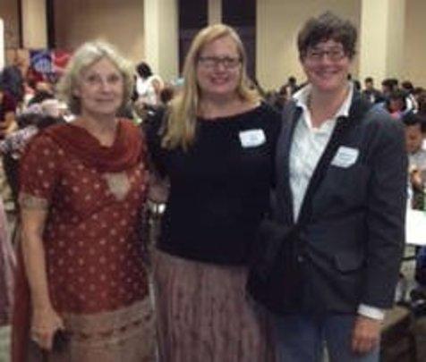 Volunteers (l to r) Freema, Sunita & Melisandra