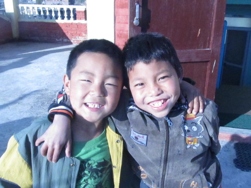 """Photo 2: Rakesh (right) , with his """"brother"""" Pawan"""