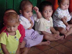 Children waiting for their dinner