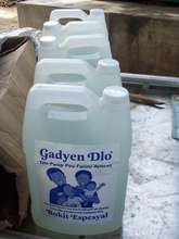 Gallons of Gadyen Dlo ready for distribution