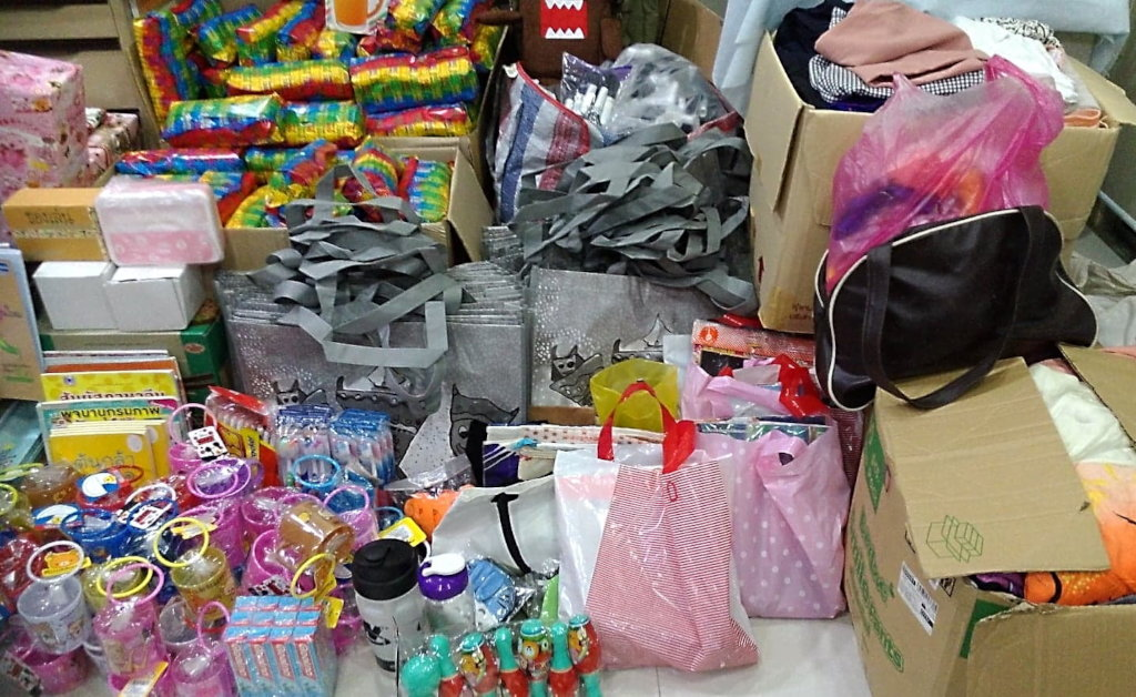 more of donated items