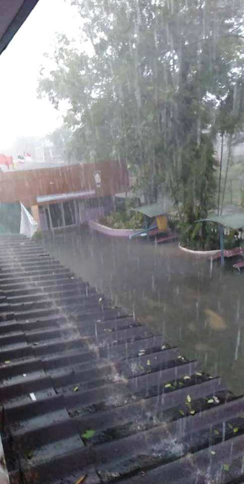 Flooded School Grounds and Office