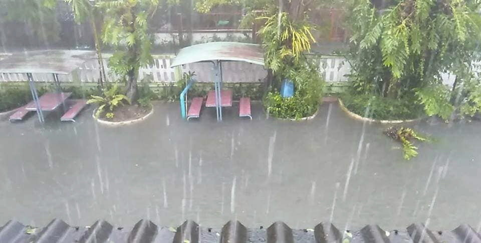 Flooded School Grounds