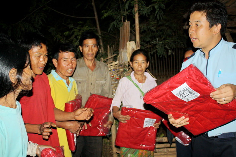 Distribution of blankets