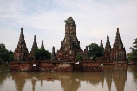 Historical sites invaded by floodwaters