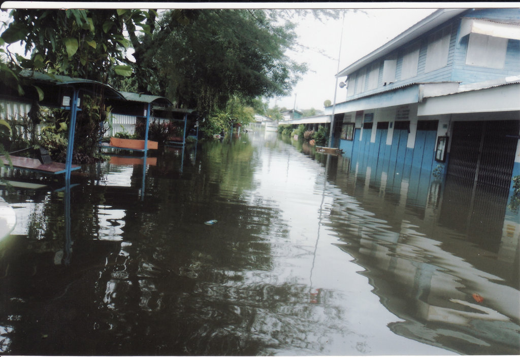 The Choosin School flooded with water