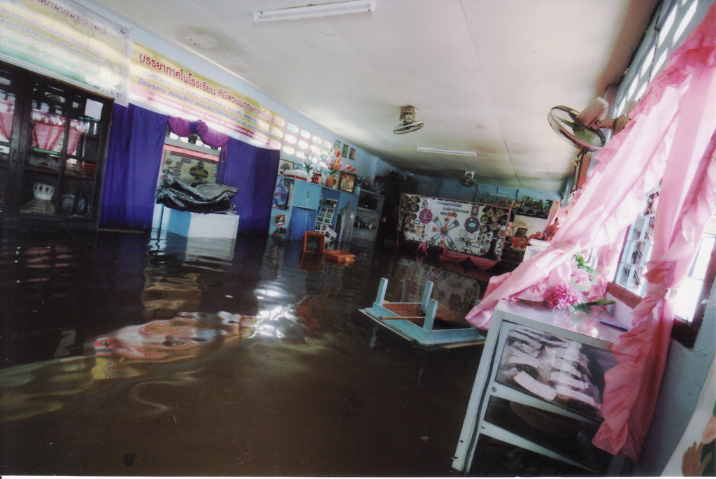 The classrooms in water