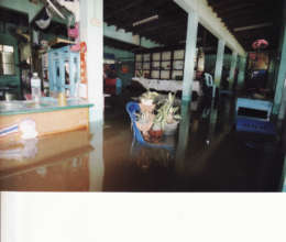 Severe flooding in school office premises