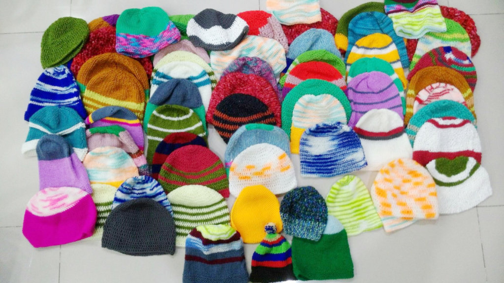 Knitted with Love for the needy