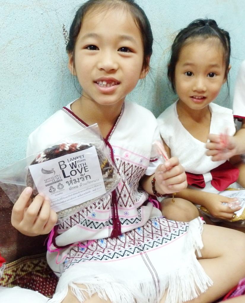 Karen Hill-tribe girls receive Winter Caps Team
