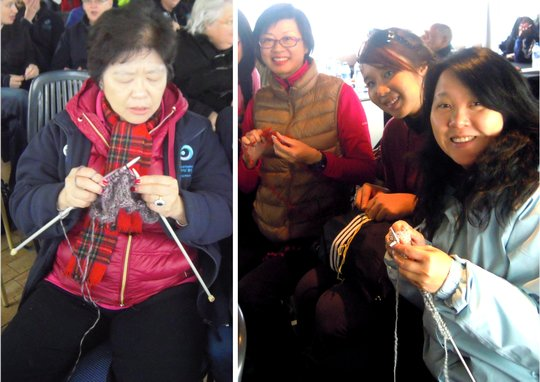 Knitters from Asia
