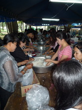 More packing of food