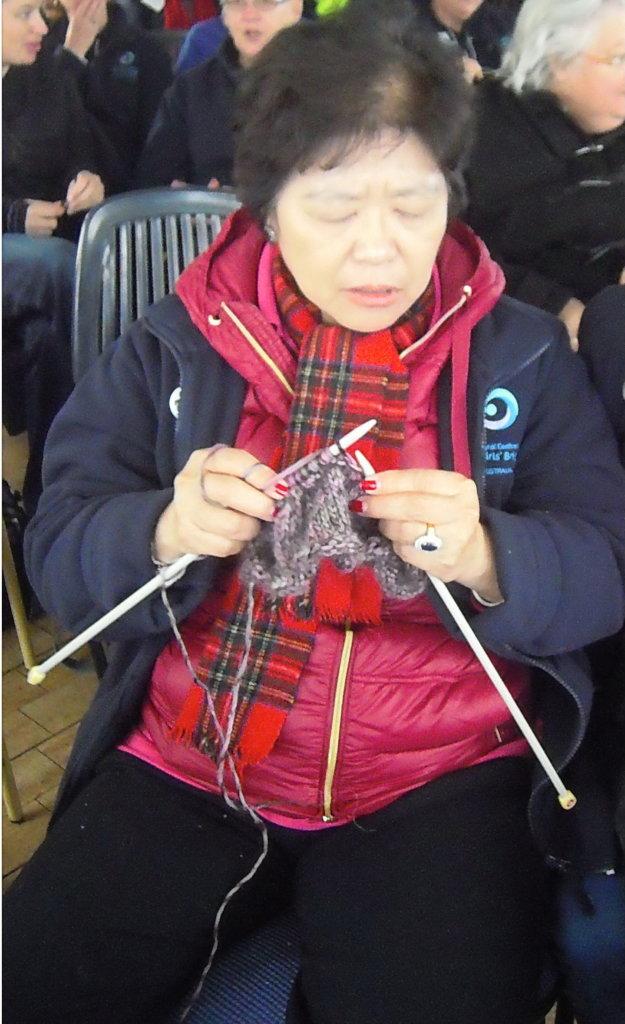 Sally , a knitter and organiser