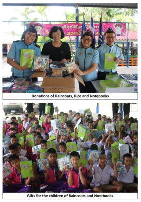 Children receive Gifts of Raincoats etc 23 Nov16