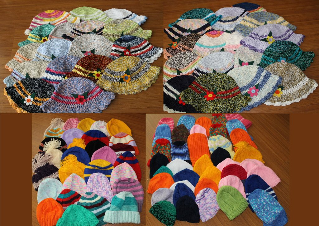 Some of the Winter Caps from Global Volunteers