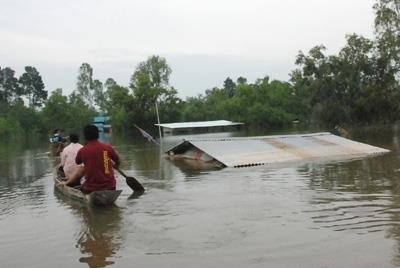 Flood in province of Sisaket