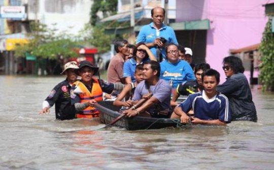 Flood in Prachinburi, 24 Sep 2012