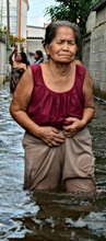 The misery of the Elderly affected by the floods