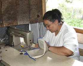 A member of a sewing cooperative in Mexico