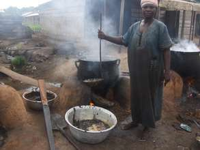 Palm Kernel Oil Production Before Smokeless Stoves