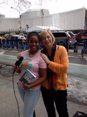 Imani Crenshaw with activist Susan Bazilli in NYC