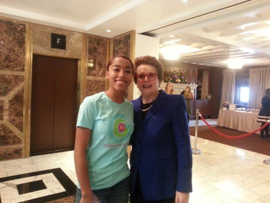 Oakland Reporter with Billie Jean King